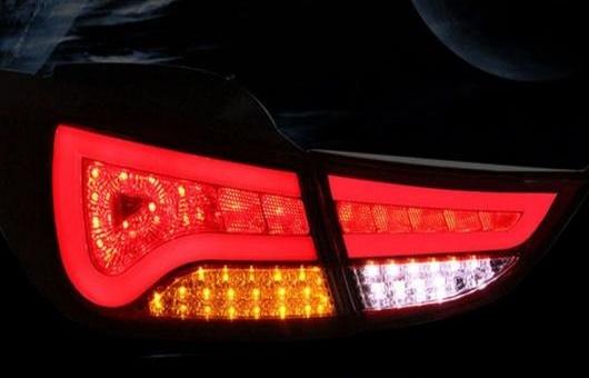 AL 適用: ヒュンダイ/現代/HYUNDAI エラントラ アバンテ LED テールライト 12-15 テール ライト リア ランプ DRL + ブレーキ パーク シグナル レッド AL-HH-1210