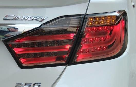 AL 適用: テール ライト 2012-2014 トヨタ カムリ LED リア フォグ ランプ DRL ブレーキ + パーク シグナル レッド AL-HH-1215