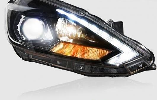 AL LED ヘッドランプ 適用: 日産 シルフ セントラ ヘッドライト 2016 DRL H7 HID バイキセノン レンズ エンジェル アイ ロー ビーム 4300K~8000K 35W・55W AL-HH-1218