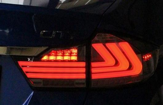 AL リアライト 適用: ホンダ シティ LED テールライト 2014-2015 テール ライト リア ランプ DRL + ブレーキ パーク シグナル レッド AL-HH-1220