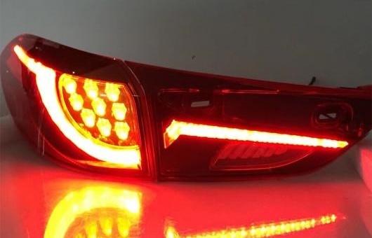 AL 適用: マツダ CX-4 2016-2018 テールライト セダン LED テール ランプ リア DRL + ブレーキ パーク シグナル ライト レッド AL-HH-1229