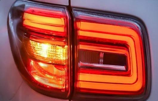 AL 適用: 日産 パトロール テールライト 2012-2017 LED テール ランプ リア DRL + ブレーキ パーク シグナル ライト レッド AL-HH-1242