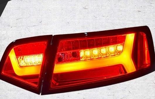 AL 適用: アウディ/AUDI A6L テールライト 2009-2012 LED テール ランプ リア DRL + ブレーキ パーク シグナル ライト レッド AL-HH-1243