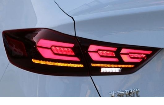 AL 適用: ヒュンダイ/現代/HYUNDAI エラントラ テールライト 2016-2018 LED テールランプ リアライト DRL + ブレーキ パーク ダイナミック ターンシグナル レッド AL-HH-1259