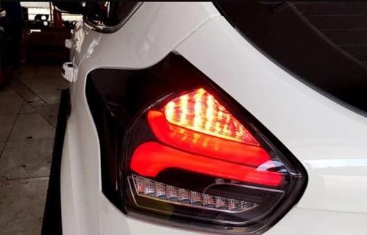 AL 適用: フォード/FORD フォーカス 2 テールライト 2015-2018 LED リアライト テールランプ DRL + ブレーキ パーク シグナル ストップ リバース ライト ブラック AL-HH-1260