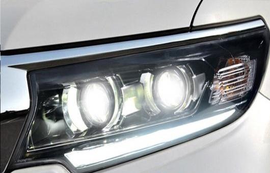 AL 適用: トヨタ プラド ヘッドライト 2018 LED ヘッドランプ DRL ハイ ロー ランプ フル ダブル レンズ 5000K・6000K 35W・55W AL-HH-1265