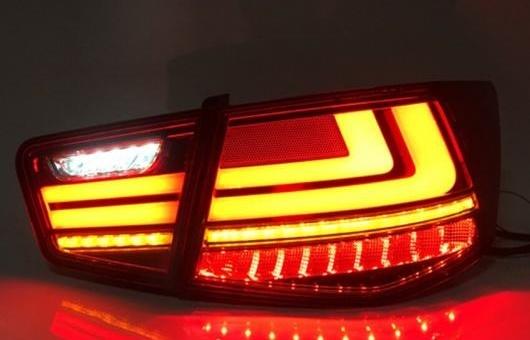 AL 適用: 起亜 フォルテ LED テールライト 2009-2013 テール ライト リア ランプ DRL + ブレーキ パーク シグナル ダイナミック ターン レッド AL-HH-1271