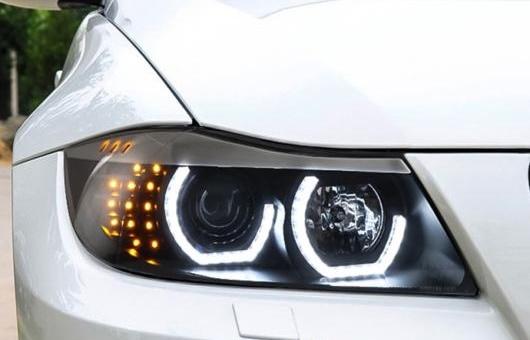 AL 適用: BMW/ビーエムダブリュー E90 318I 320I 330I LED ヘッドライト 2005 2006 2007 2008 年 ヘッドランプ バイキセノン プロジェクター レンズ 4300K~8000K 35W・55W AL-HH-1277