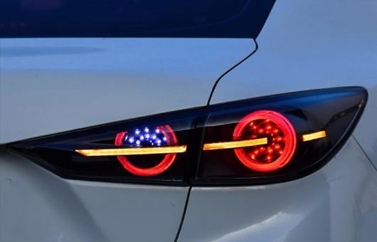 AL 2014-2018 適用: マツダ 3 アクセラ LED テールライト タホ サバーバン リア ライト トランク ランプ パーキング ブラック AL-HH-1301