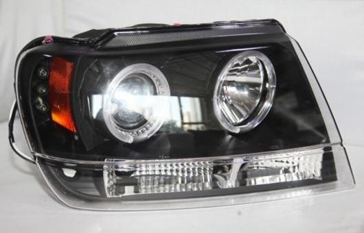 AL 適用: グランド チェロキー LED ヘッドランプ ヘッドライト 1999 2000 2001 2002 2003 2004 年 デイタイムランニングライト 4300K ホワイト イエロー~8000K ホワイト ブルー 35W・55W AL-HH-1308