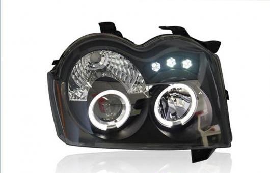 AL LED ヘッドランプ 適用: ジープ/JEEP グランド チェロキー ヘッドライト ライト アングル アイ DRL H7 HID バイキセノン 4300K ホワイト イエロー~8000K ホワイト ブルー 35W・55W AL-HH-1309