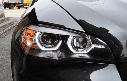 AL ヘッドランプ 適用: BMW/ビーエムダブリュー X5 ヘッドライト 2007-2013 E70 エンジェル アイ LED DRL シグナル ランプ HID BI 4300K ホワイト イエロー~8000K ホワイト ブルー AFS・AFS除く AL-HH-1310
