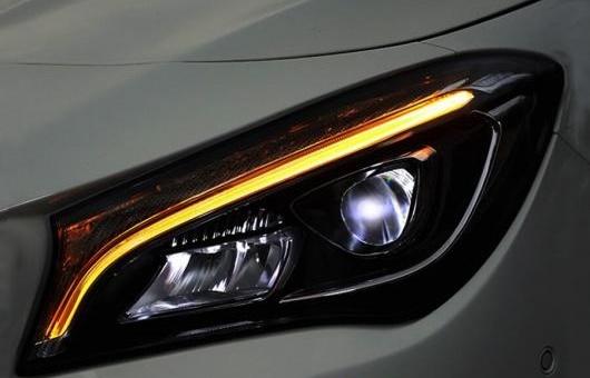 AL ヘッドランプ 適用: メルセデスベンツ/MERCEDES BENZ ベンツ CLA 2014-2018 ヘッドライト オール LED デイタイムランニングライト DRL BI-LED レンズ アーミーグリーン AL-HH-1317
