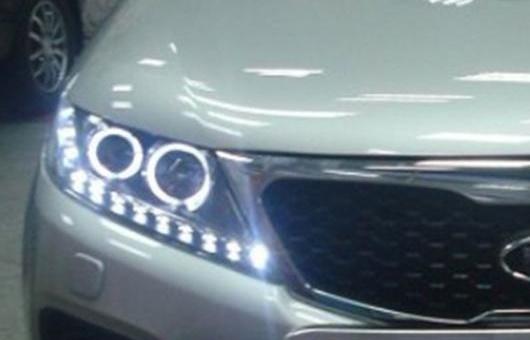 AL 適用: 起亜 ソレント ヘッドライト 2011 2012 2013 LED DRL BI キセノン レンズ ハイ ロー ビーム パーキング 4300K ホワイト イエロー~8000K ホワイト ブルー 35W・55W AL-HH-1319