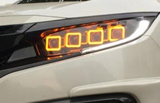 AL ヘッドランプ 適用: ホンダ シビック 2016-2018 ヘッドライト G10 MK10 DRL レンズ ダブル ビーム バイキセノン HID 6000K コールド ホワイト AL-HH-1337