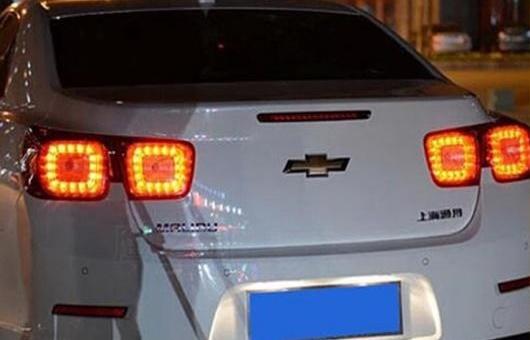 AL 適用: シボレー/CHEVROLET マリブ テール ライト LED リア ランプ DRL + ブレーキ パーク シグナル ストップ レッド AL-HH-1351