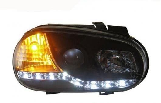 AL 適用: VW フォルクスワーゲン/VOLKSWAGEN ゴルフ 4 2004 2005 2006 2007 2008 ヘッドライト LED DRL レンズ ダブル ビーム HID キセノン 4300K~8000K 35W・55W AL-HH-1352