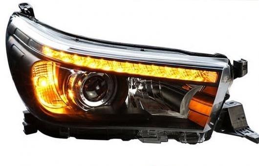 AL ヘッドランプ 適用: トヨタ レボ ヘッドライト 2016 2017 ハイラックス LED ヴィーゴ フロント ライト DRL H7 キセノン HID ランプ 4300K ホワイト イエロー~ウォーム ホワイト 35W・55W AL-HH-1357
