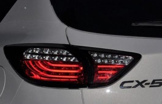 AL 適用: マツダ CX-5 2013 2014 2015-2017 テールライト LED リア ランプ DRL + ブレーキ パーク シグナル ライト レッド AL-HH-1359