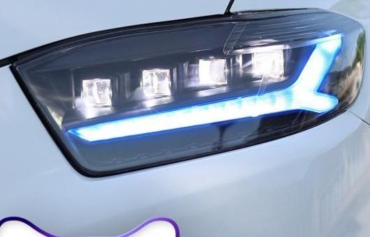 AL 適用: トヨタ ハイランダー ヘッドライト 2007-2011 LED DRL BI-LED レンズ ハイ ロー ビーム パーキング フォグランプ オール 6000K コールド ホワイト 35W AL-HH-1370