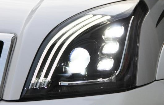 AL 適用: トヨタ プラド フル LED ヘッドライト 2003-2009 ヘッドランプ DRL ロー ビーム ハイ オール 6000K コールド ホワイト 35W AL-HH-1377