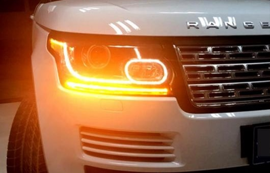 AL 適用: レンジ ローバー LED ヘッドライト HID ヘッド AMP DRL レンズ ダブル ビーム 4300K ホワイト イエロー~8000K ホワイト ブルー 35W・55W AL-HH-1379