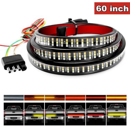 AL 12V 49インチ/60インチ ブレーキ ターン ライト ワーニング シグナル LED フレキシブル ストリップ リア テール ランニング リバース ダブル フラッシュ ライト タイプ C AL-HH-1664