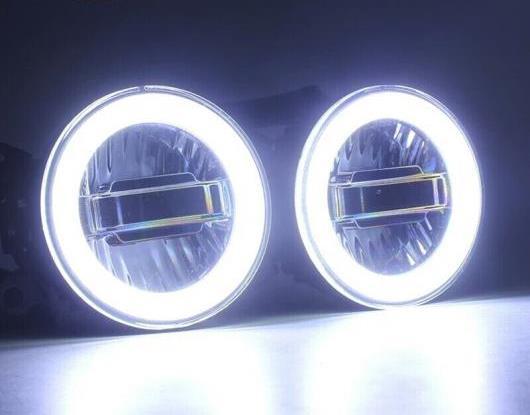 AL 3in1 ファンクション オート LED エンジェルアイ デイタイムランニングライト プロジェクター フォグランプ 適用: 三菱 パジェロ V87 V97 2007-2014 AL-HH-1435