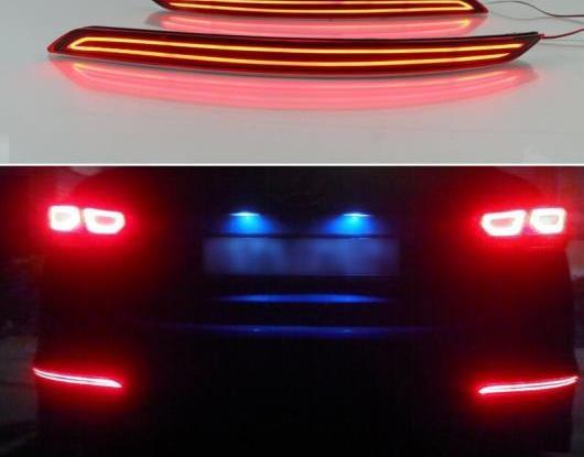 AL 2ピース 適用: ヒュンダイ/現代/HYUNDAI エラントラ 2016 2017 2018 マルチファンクション LED リア フォグランプ バンパー ライト オート ブレーキ ライト リフレクター AL-HH-1442