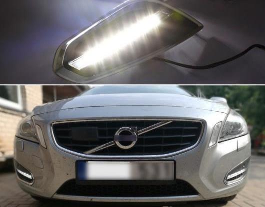 AL 適用: ボルボ/VOLVO S60 V60 2011 2012 2013 ライト オフ スタイル リレー 防水 マット ABS DRL 12V LED デイタイムランニングライト デイライト AL-HH-1507