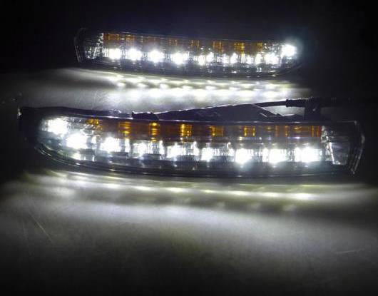 AL 適用: フォルクスワーゲン/VOLKSWAGEN VW パサート CC 2009-2012 ターン イエロー シグナル スタイル リレー 防水 ABS 12V DRL LED デイタイムランニングライト AL-HH-1510