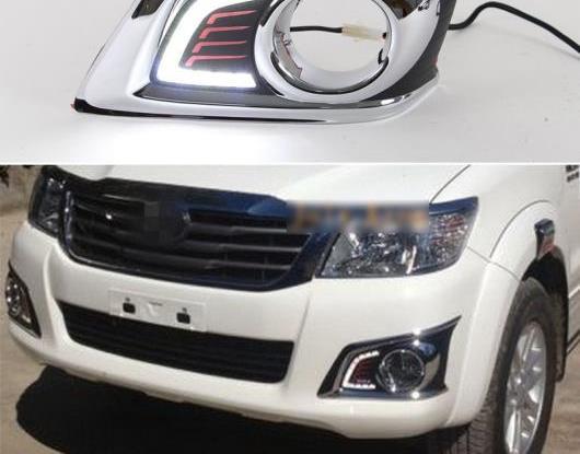 AL 適用: トヨタ ハイラックス ヴィーゴ 2012 2013 2014 スーパー 輝度 防水 ABS 12V DRL ランプ LED デイタイムランニングライト デイライト AL-HH-1515
