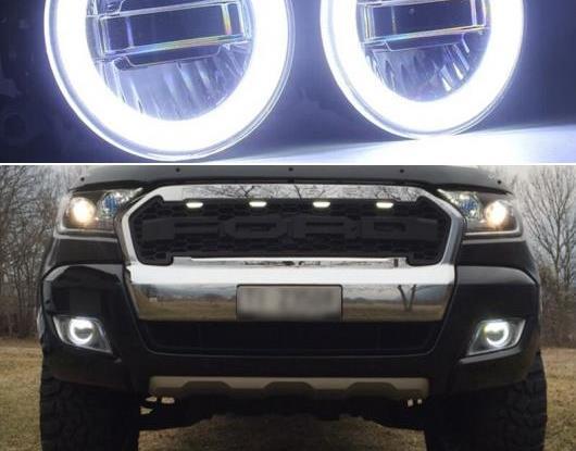 AL 3in1 機能 オート LED エンジェルアイ デイタイムランニングライト プロジェクター フォグランプ 適用: フォード/FORD レンジャー 2015 2016 2017 2018 AL-HH-1563