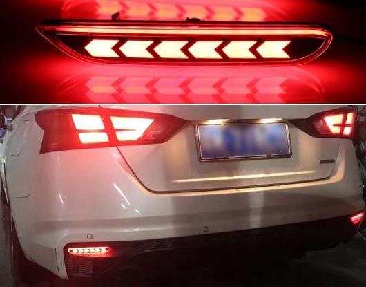 AL 適用: 日産 キャシュカイ 2016-2020 マルチファンクション テールライト LED リア フォグランプ バンパー ライト オート バルブ ブレーキ ライト リフレクター AL-HH-1566