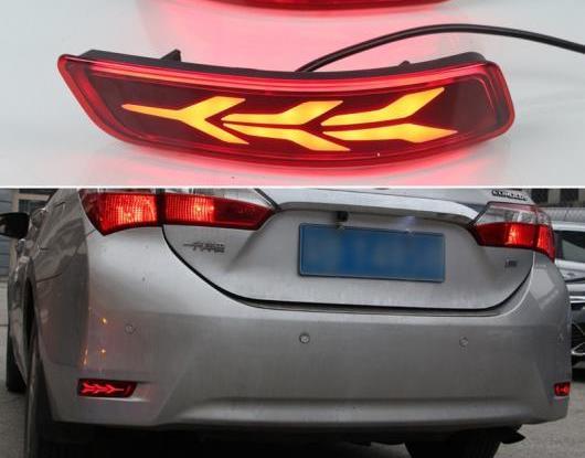 AL 適用: トヨタ カローラ アルティス 2014-2018 LED リア フォグランプ バンパー ライト ブレーキ ライト ダイナミック ターンシグナル リフレクター 2 ファンクション タイプA・タイプB AL-HH-1625