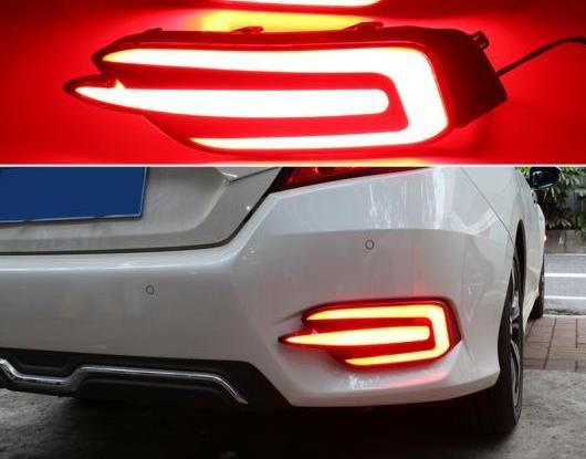 AL 2ピース 適用: ホンダ シビック セダン 2016 2017 2018 2019 マルチファンクション LED リア フォグランプ バンパー ライト オート ブレーキ ライト リフレクター AL-HH-1657