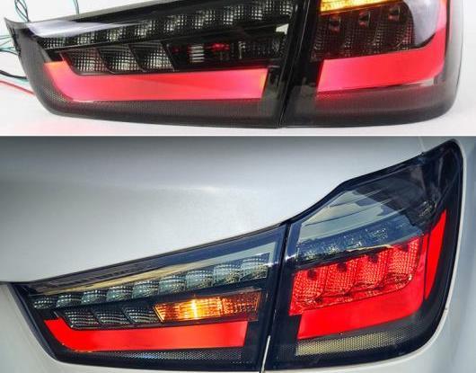 AL LED テールライト テールライト 適用: 三菱 ASX RVR 2011-2018 リア ランニング ライト + ブレーキ ランプ + リバース + ダイナミック ターンシグナル ブラック・レッド AL-HH-1666