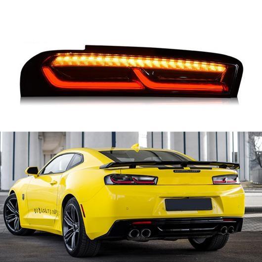 AL LED テールライト テールライト 適用: シボレー/CHEVROLET カマロ 2016 2017 2018 リア ランニング ライト + ブレーキ ランプ + ダイナミック ターンシグナル ライト ブラック・レッド AL-HH-1667