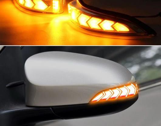 AL 2ピース ダイナミック LED ターンシグナルライト 適用: トヨタ カムリ カローラ プリウス C ヴェンザ アヴァロン ヴィオス ヤリス アルティス バックミラー ミラー インジケーター ランプ AL-HH-1678