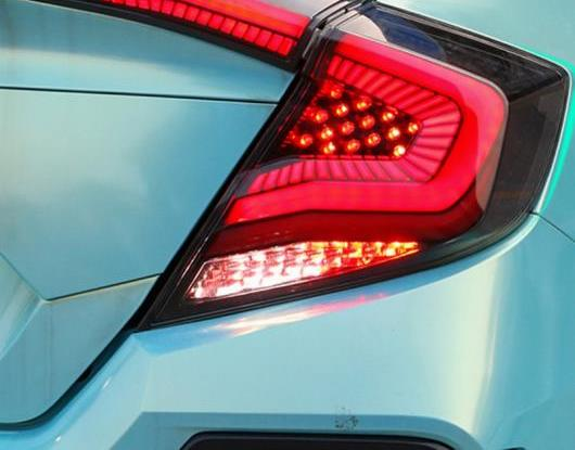 AL LED テールライト テールライト 適用: ホンダ シビック 2017 2018 2019 リア フォグランプ + ブレーキ ライト + リバース ランプ + ダイナミック ターンシグナル AL-HH-1690