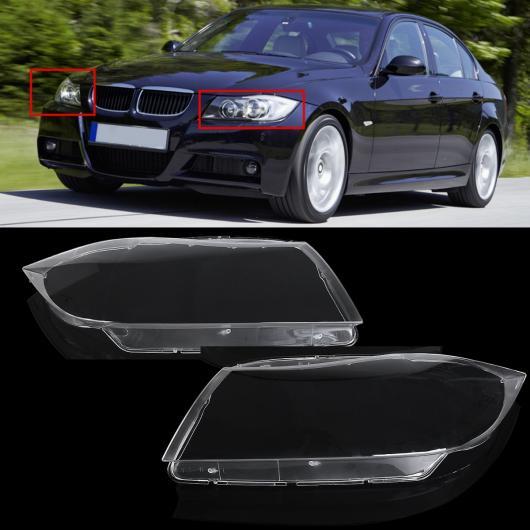 AL ブランド 左/右 クリア ヘッドライト ヘッドランプ レンズ カバー 適用: BMW 3シリーズ 325 E90 2006 2007 2008 2009 2010 2011 2012 1ピース/2ピース ペア AL-HH-1868