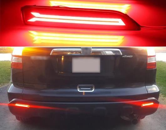 AL 2ピース 適用: ホンダ シティ 2012 2013 2014 マルチファンクション LED リア バンパー ライト リア フォグランプ オート バルブ ブレーキ ライト リフレクター タイプA・タイプB AL-HH-1740