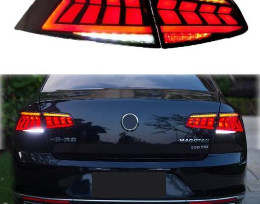 AL LED テールライト テールライト 適用: フォルクスワーゲン/VOLKSWAGEN VW パサート B8 2017 2018 2019 リア フォグランプ + ブレーキ + リバース + ダイナミック ターンシグナル AL-HH-1761