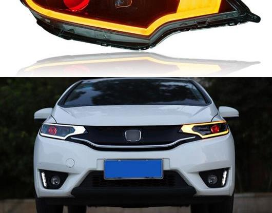 AL LED ヘッドライト 適用: ホンダ フィット ジャズ GK5 スポーツ 2014-2020 LED DRL ターンシグナルライト LED デビル アイ ヘッド ランプ アセンブリ AL-HH-1781