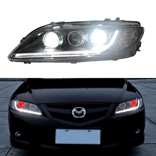 AL LED ヘッドライト 適用: マツダ 6 2003-2012 LED DRL ハロゲン ターンシグナルライト LED レッド デビル アイ ヘッド ランプ アセンブリ AL-HH-1782