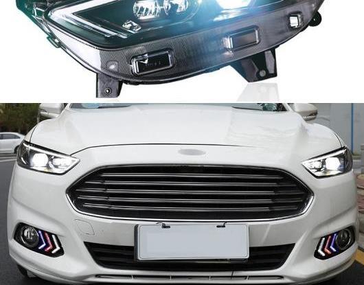 AL LED ヘッドライト 適用: フォード/FORD モンデオ フュージョン 2013 2014 2015 2016 LED DRL ダイナミック ターンシグナル ヘッド ランプ アセンブリ AL-HH-1804