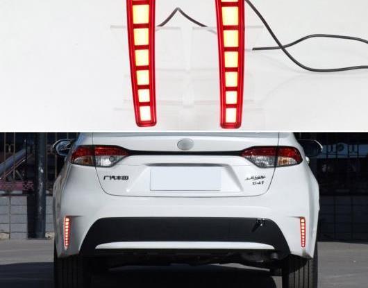 AL 適用: トヨタ カローラ L/LE/XLE US 2019 2020 マルチファンクション LED リア フォグランプ バンパー ブレーキ ライト ダイナミック ターンシグナル リフレクター タイプA・タイプB AL-HH-1833