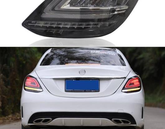 AL LED テールライト テールライト 適用: メルセデス ベンツ W205 C180 C200 C300 リア フォグランプ + ブレーキ + リバース + ダイナミック ターンシグナル AL-HH-1835