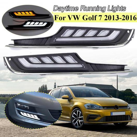 AL LED デイタイムランニングライト 適用: VW フォルクスワーゲン/VOLKSWAGEN ゴルフ 7 2013 2014 2015 2016 12V DRL フォグランプ カバー 2ピース/セット AL-HH-1862