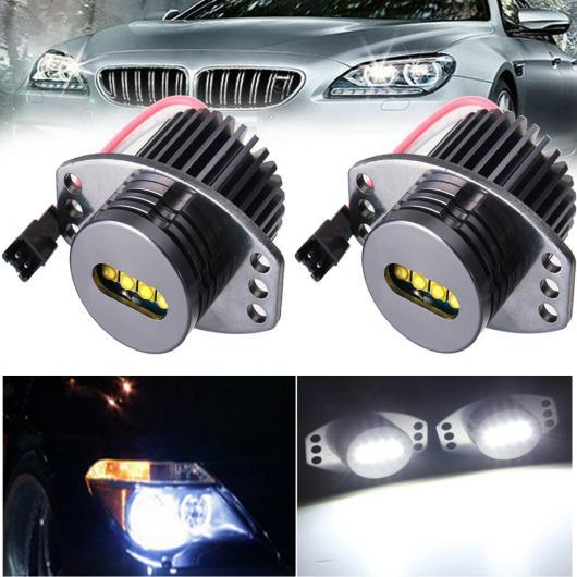AL 2ピース 6000K ホワイト エンジェルアイ LED マーカー ライト ヘッドライト HALO リング ライト バルブ 63117161444 適用: BMW E90 E91 2006 2007 2008 AL-HH-1942